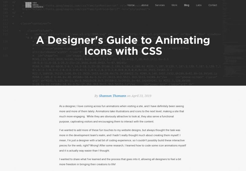 Design : un guide pour animer des icônes en CSS