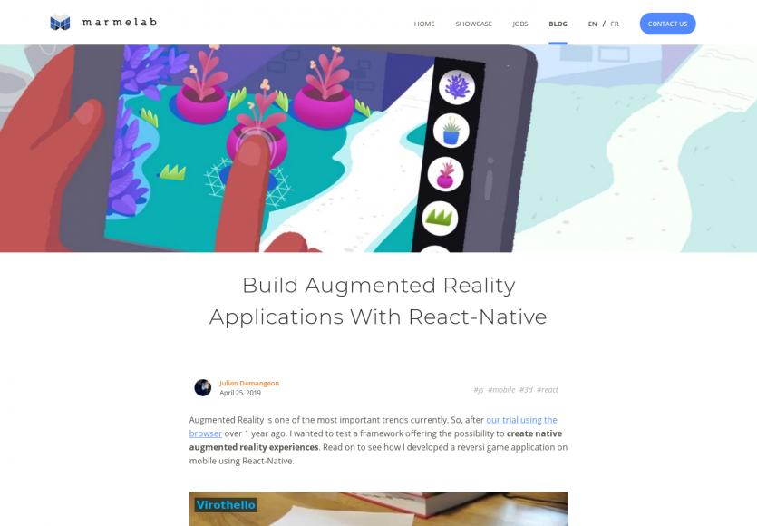 Créer une application de réalité augmentée en React Native