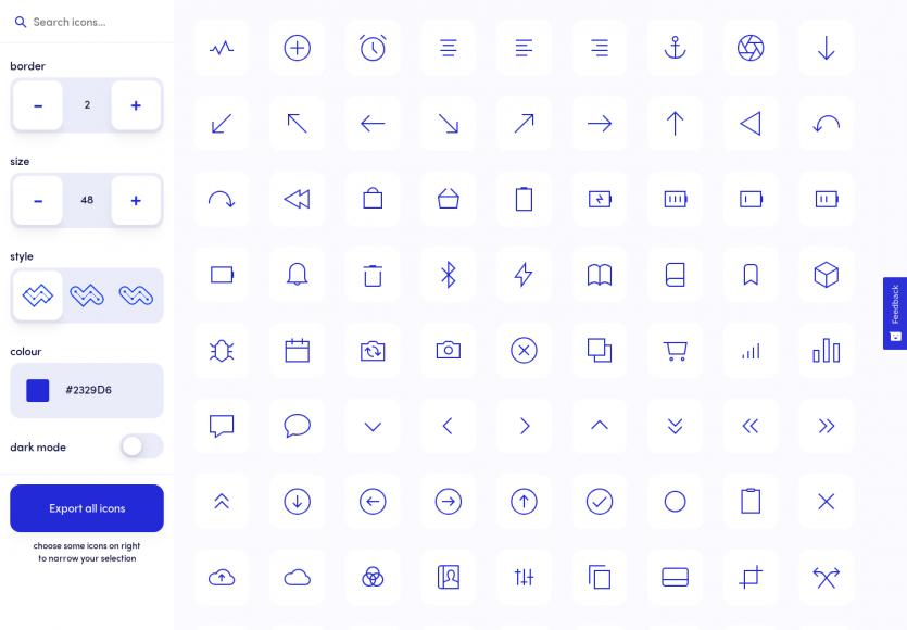 Ikonate : une collection d'icônes SVG personnalisables pour vos projets web