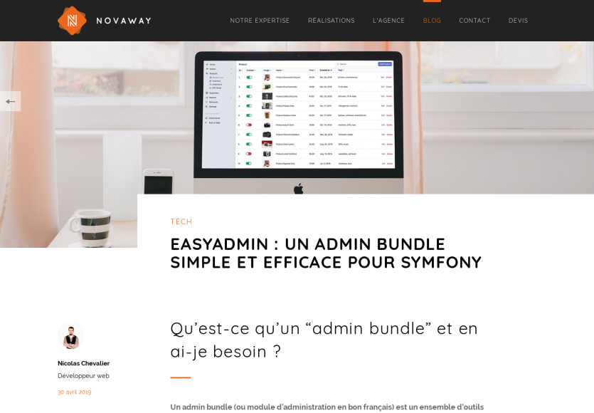 EasyAdmin : un admin bundle Symfony simple et efficace