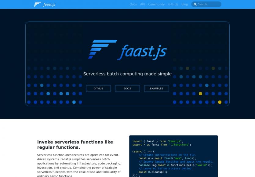 Faast.js - Appelez des services serverless comme des fonctions Javascript classiques