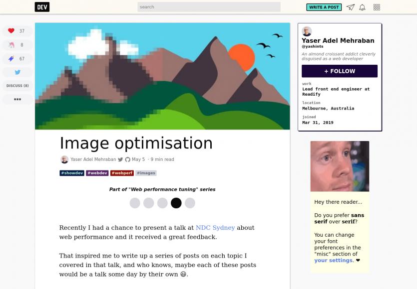 Optimisation d'images pour le web