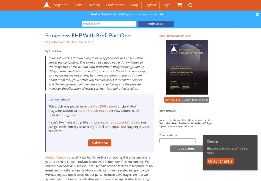 Une intro aux apps Serverless en PHP et AWS avec Bref