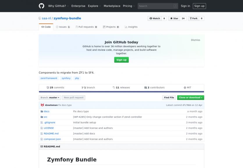 Zymfony Bundle : des composants pour migrer de Zend Framework 1 à Symfony 4