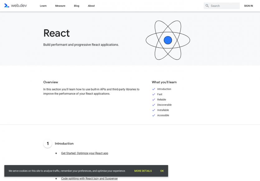 Un tutoriel sur React et comment optimiser ses apps par Google