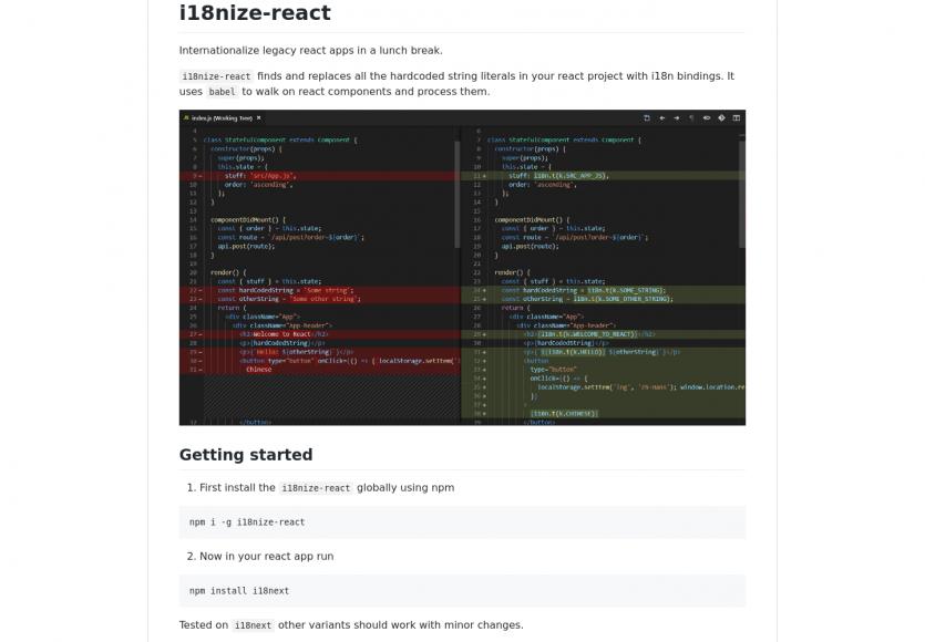 i18nize-react : internationalisez rapidement vos applications React.js