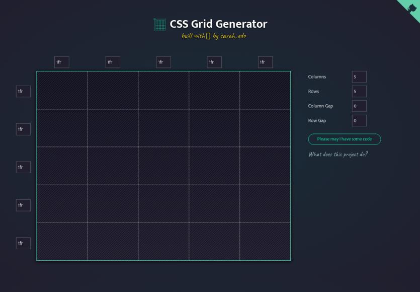 CSS Grid Generator : générez des CSS Grid visuellement en quelques clics