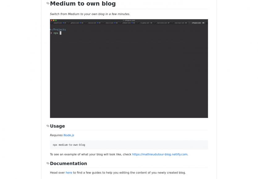 Convertissez votre blog Medium en un blog personnel directement opérationnel