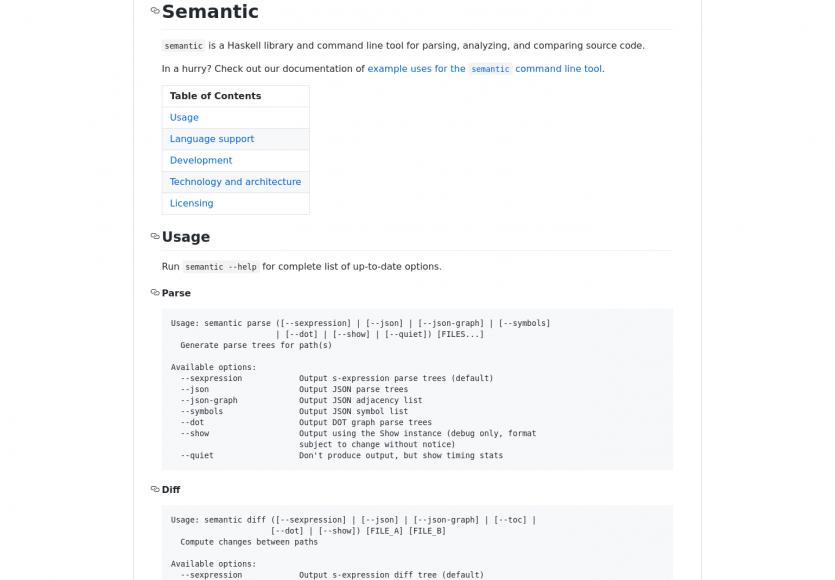 Semantic : un outil Github pour analyser et comparer du code source
