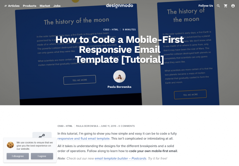 Comment développer un template d'email HTML en mobile first