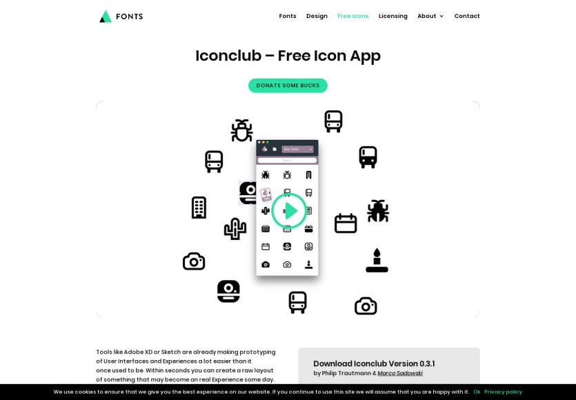 Iconclub : une application comprenant plus de 8000 icônes à drag and drop