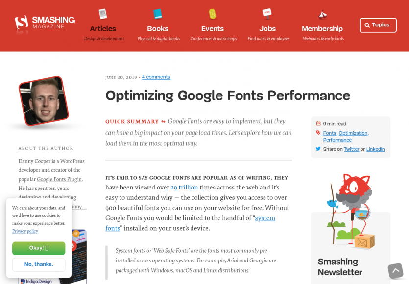 Optimisez vos performances Google Fonts