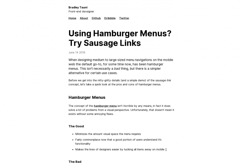 Alternative aux menus hamburgers ? les menus saucisses