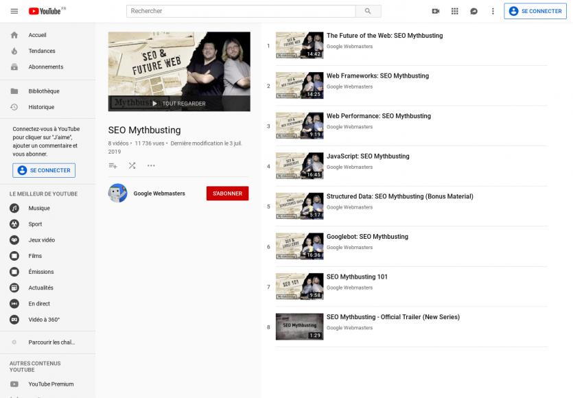 Google lance sa nouvelle série de vidéos SEO Mythbusting