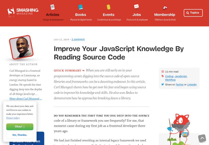 Améliorez vos connaissances Javascript en lisant du code source
