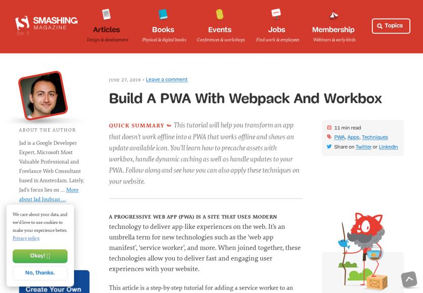 Créer une PWA qui fonctionne en offline avec Webpack et Workbox