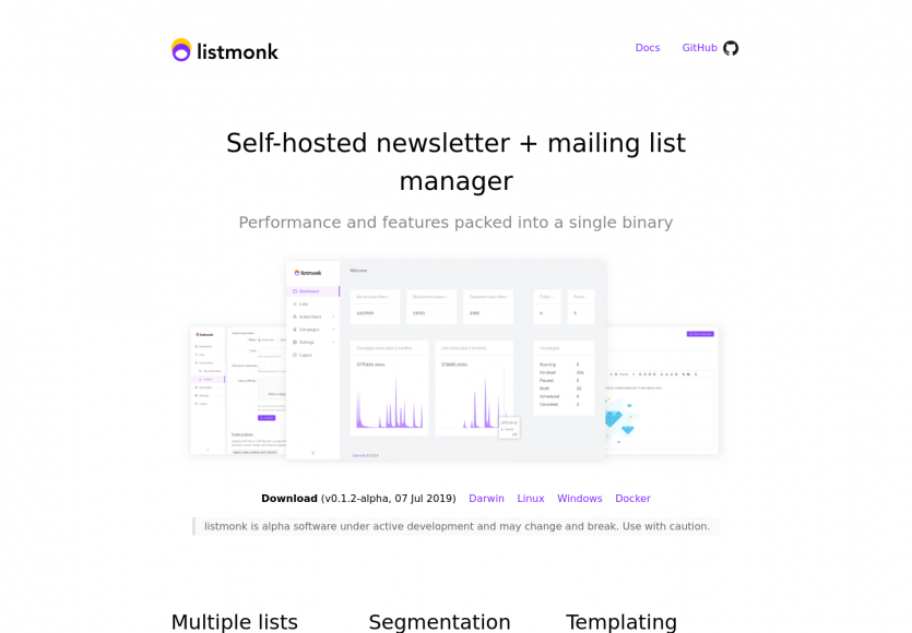 Listmonk : une plateforme de gestion de newsletters open source en Go + React