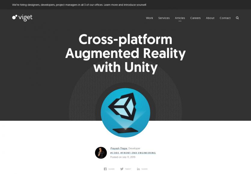 Unity : créez de la réalité augmentée cross-platform