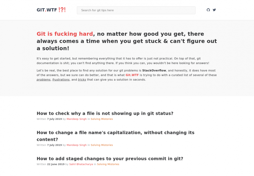 GIT WTF : une série de questions sur GIT