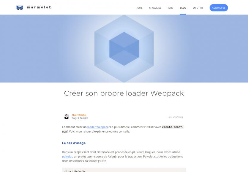 Créer son propre loader Webpack