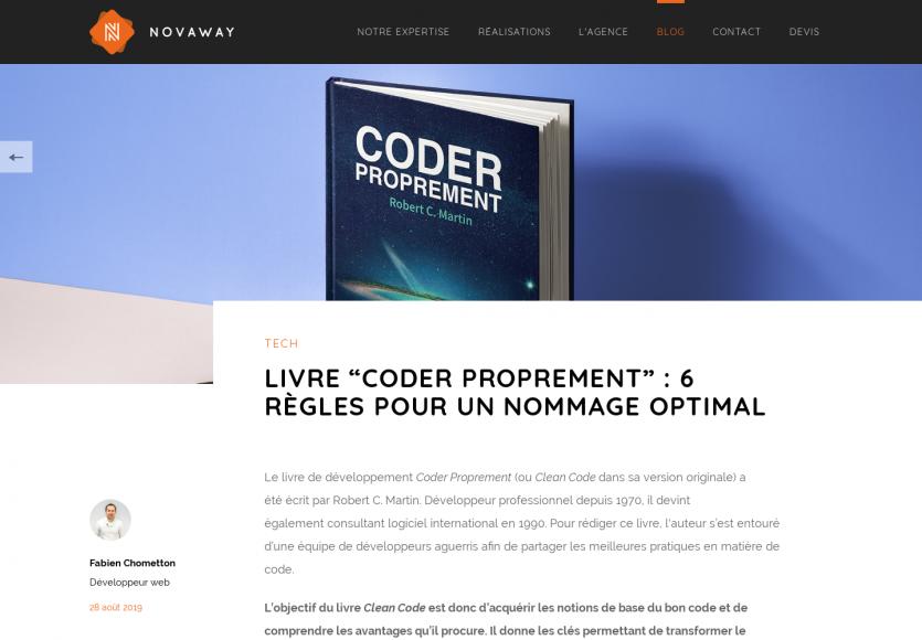 """Revue du livre """"Coder proprement"""" : 6 règles pour un nommage optimal"""