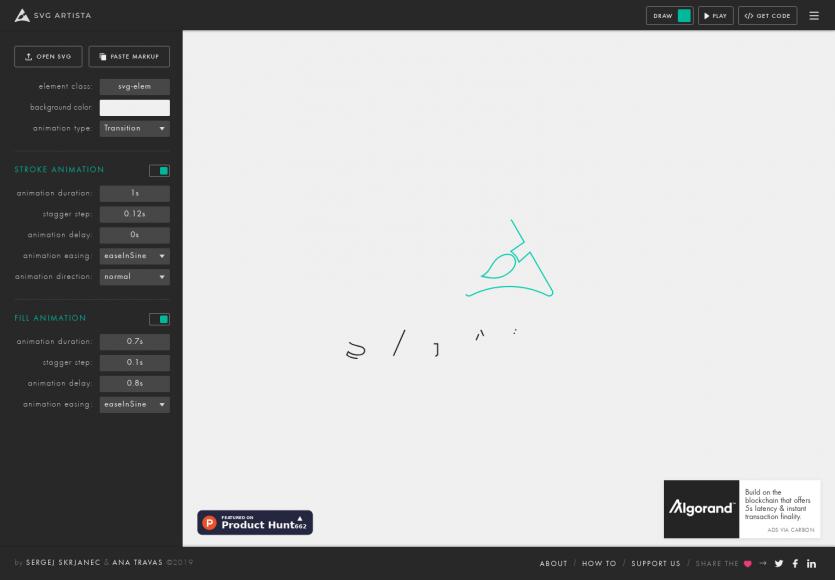 SVG Artista : un outil pour animer le fond et contour de vos SVG en ligne