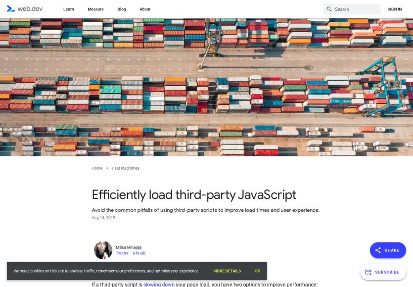 Charger des Javascript tiers efficacement pour ne pas détériorer vos webperfs