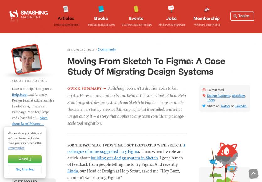 Passer de Sketch à Figma: étude d'un cas de migration
