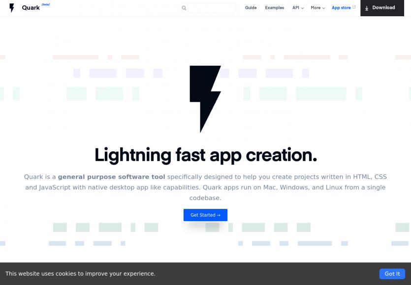 Quarkjs: une surchouche d' Electron pour créer des apps desktop efficaces à partir de langage web
