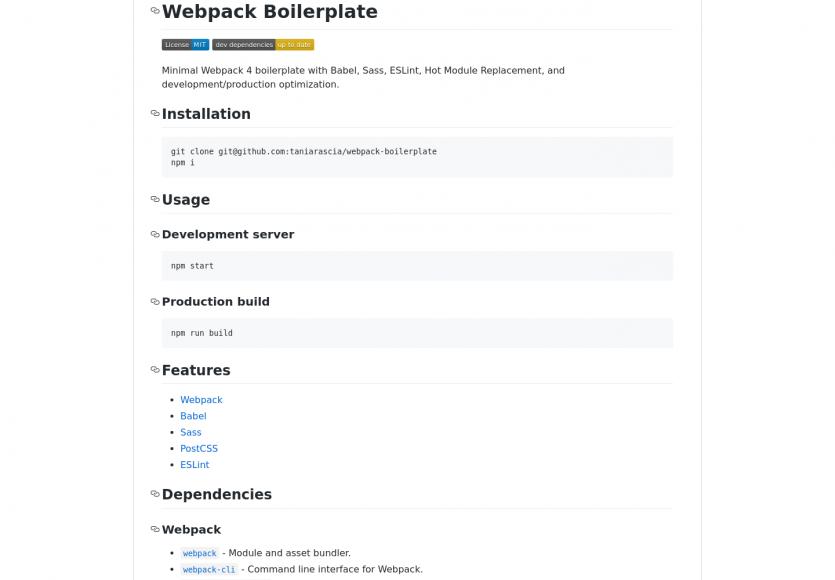 Webpack Boilerplate: une configuration webpack 4 minimale prête à emploi