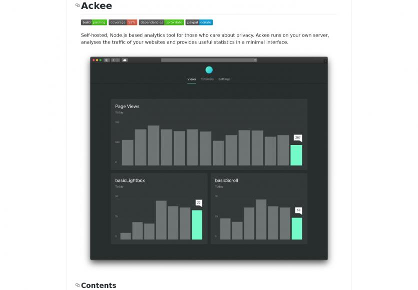 Ackee : une plateforme Analytics opensource en Node.js respectueuse de la vie privée
