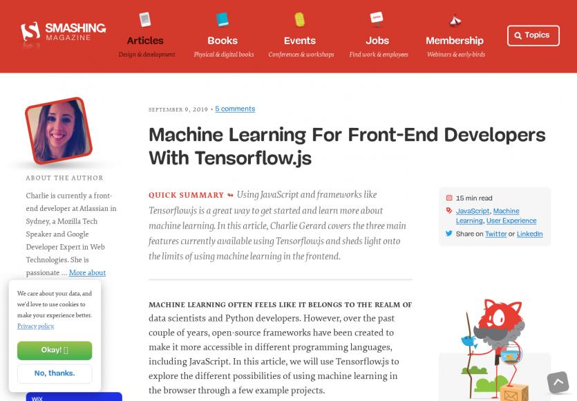 Faire du Machine Learning pour les développeurs frontend avec Tensorflow.js