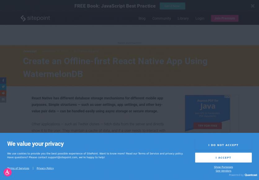 Créer une app React Native avec une stratégie offline first avec WatermelonDB