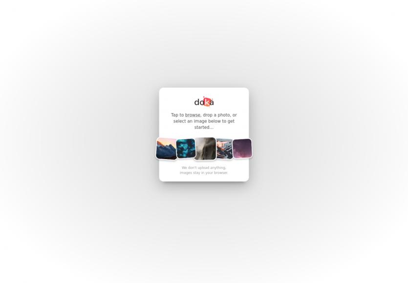 Doka : un éditeur d'images en ligne moderne et efficace