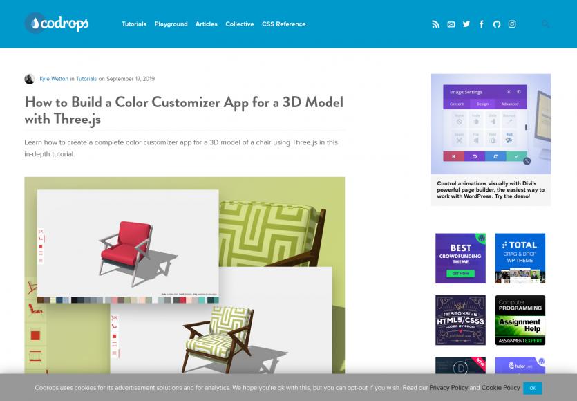 Comment créer un outil de personnalisation de couleurs sur modèle 3D