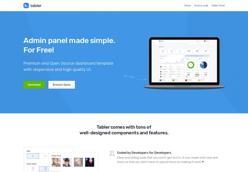 Tabler : un thème admin gratuit basé sur Bootstrap