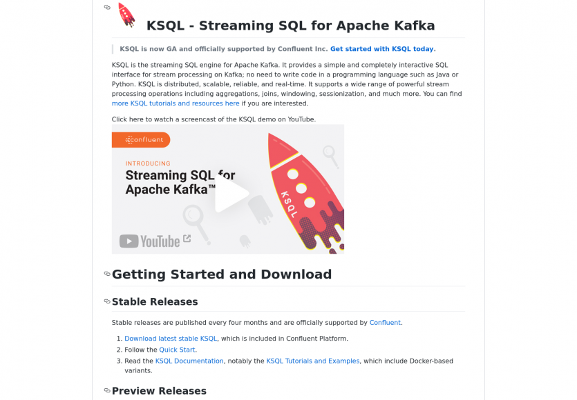 Ksql : du Streaming SQL pour Apache Kafka