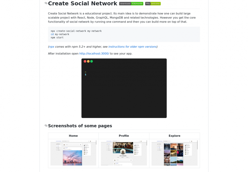 Créer un réseau social privé avec React, NodeJs, GraphQL et MongoDB en une commande