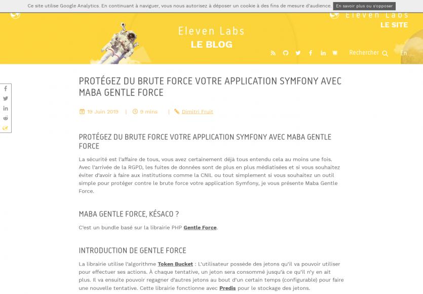 Protégez votre application Symfony du brute force avec Maba Gentle Force
