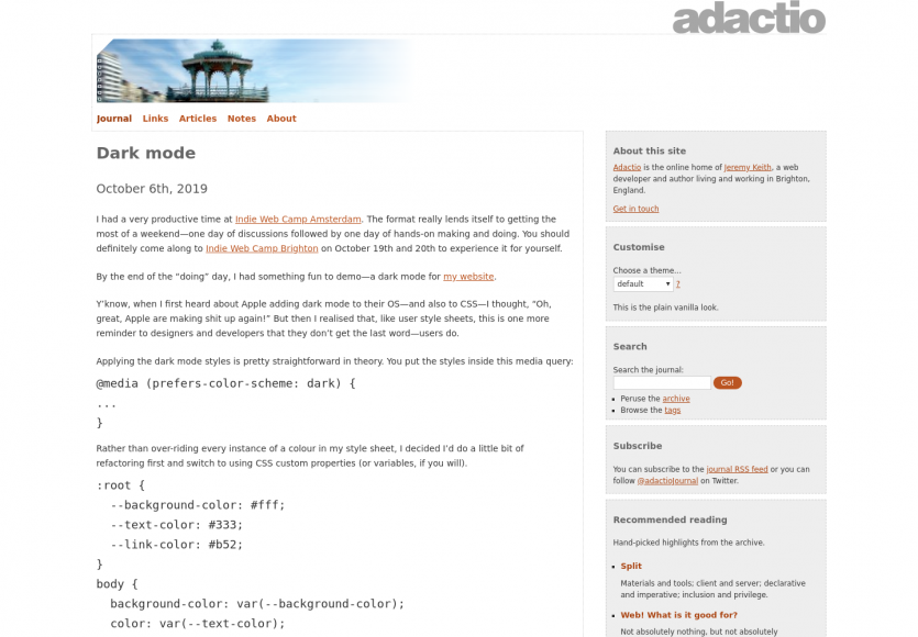 Proposer un mode dark sur ses pages web