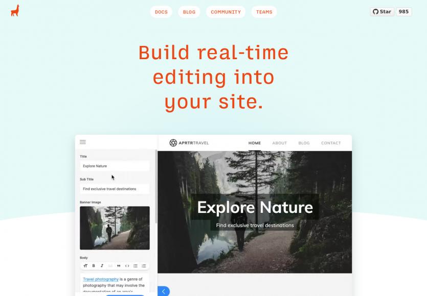Tina : un toolkit pour administrer en temps réel vos CMS modernes (Gatsby et Next.js)