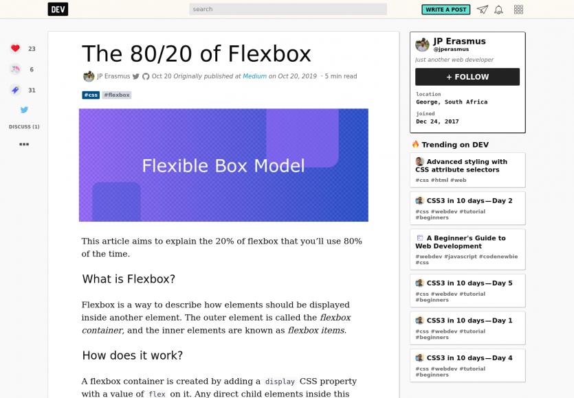 Les 80/20 de Flexbox : explications sur les 20% de flexbox que vous utiliserez 80% du temps