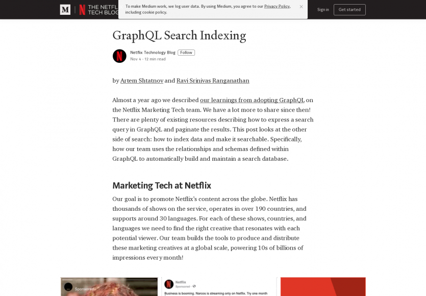GraphQL Search Indexing chez Netflix