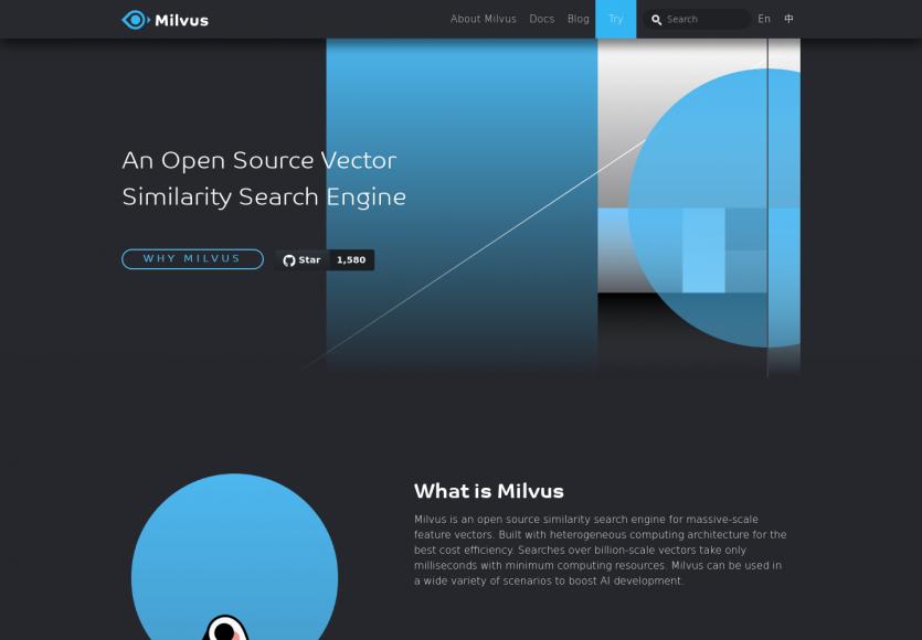 Milvus : un moteur de recherche Open Source de Vector Similarity