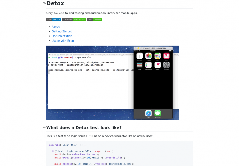 Detox : un framework d'automatisation et de tests pour applications mobiles