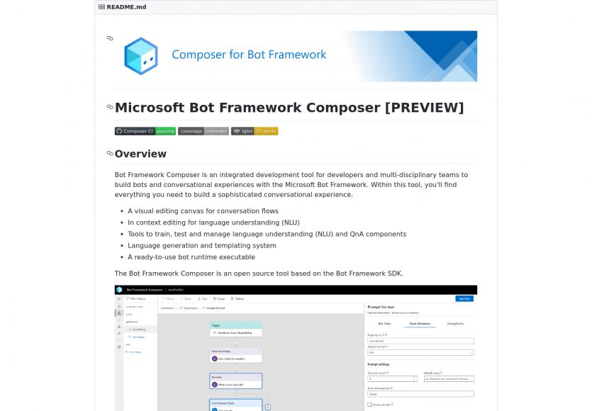 Un outil pour créer des scénarios de chat bot visuellement avec le Microsoft Bot Framework