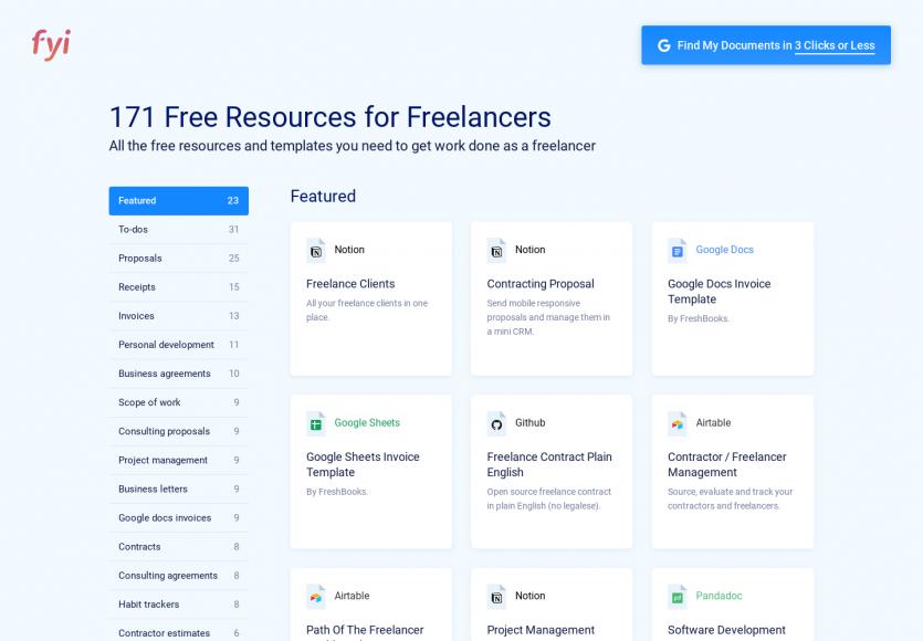 Des templates de documents gratuits pour les freelances