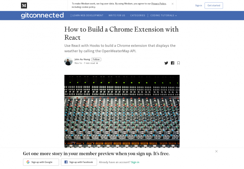 Un tutoriel pour créer une extension Chrome avec React