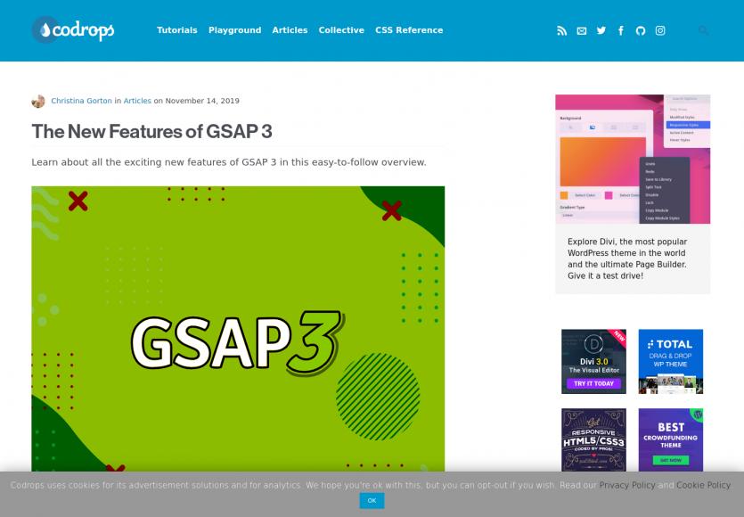 Les nouvelles fonctionnalités de GSAP 3 avec exemples
