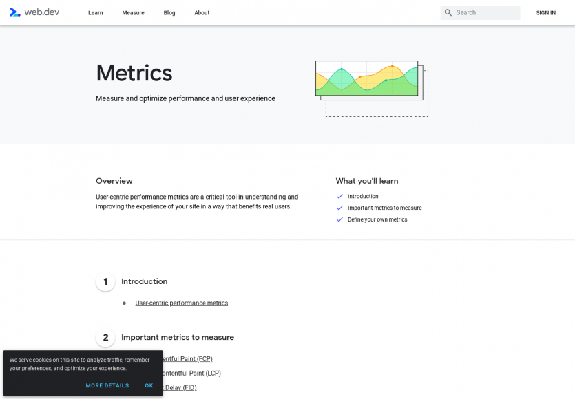 Metrics : les indicateurs de performance web à mesurées, détaillées par Google